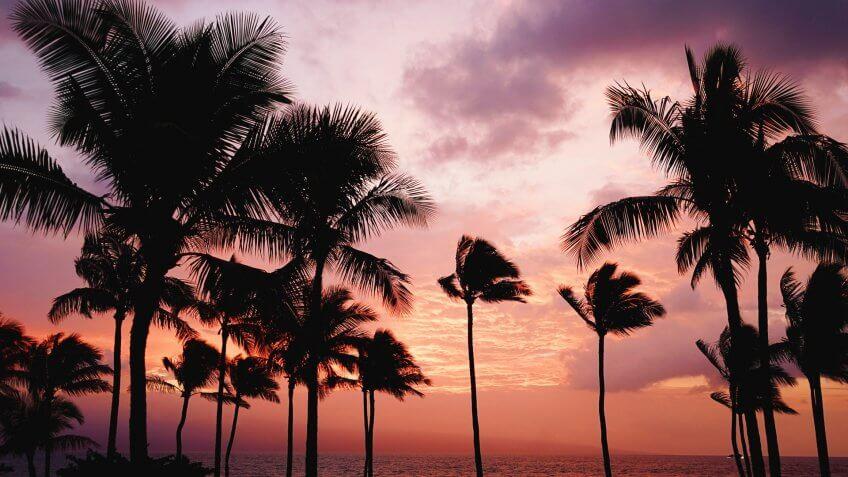 Maui Hawaii at sunset