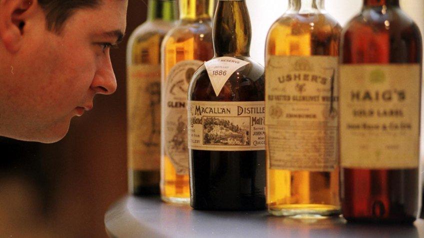 McCallan 1886 scotch at Scottish Sale at Phillips