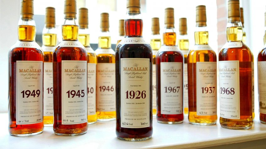 McCallan single malt scotch collection