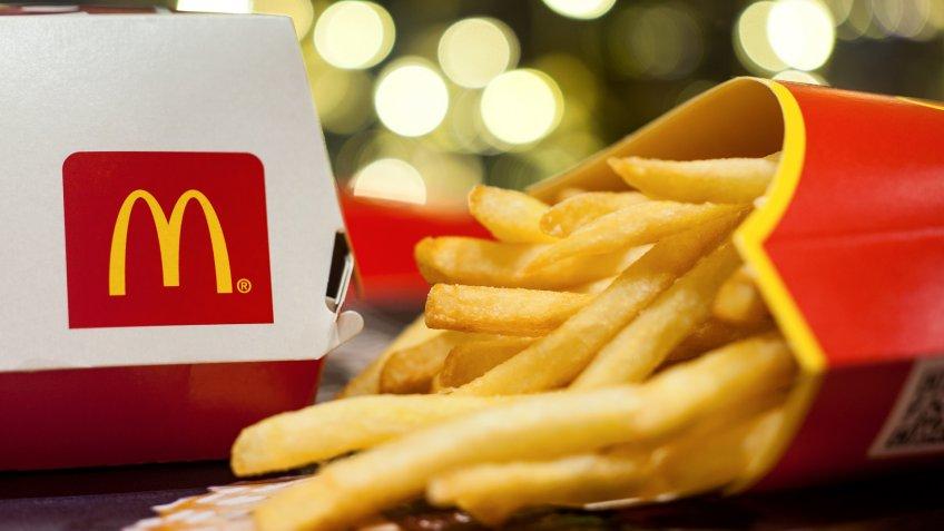 McDonalds french fries and hamburger
