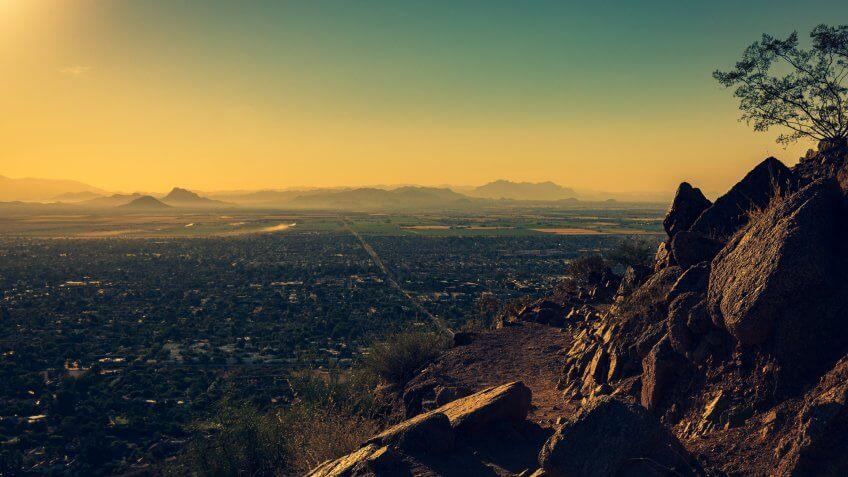 Phoenix Arizona view from Camelback Mountain