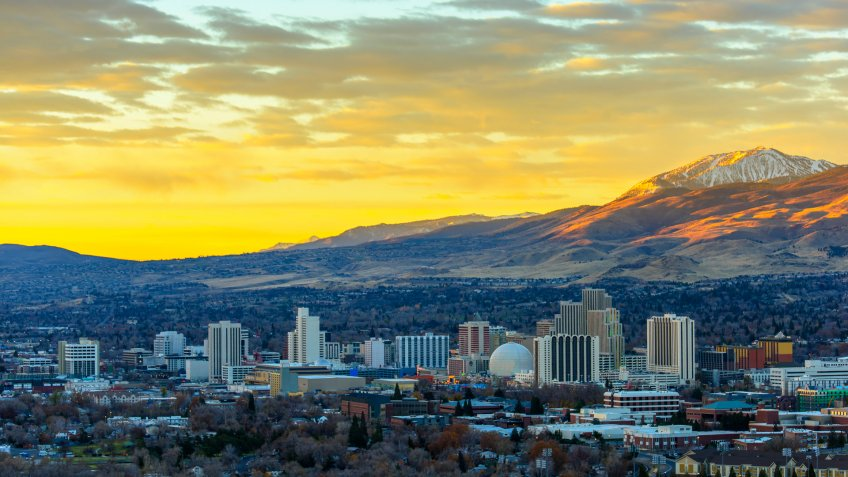 Reno at sunrise.