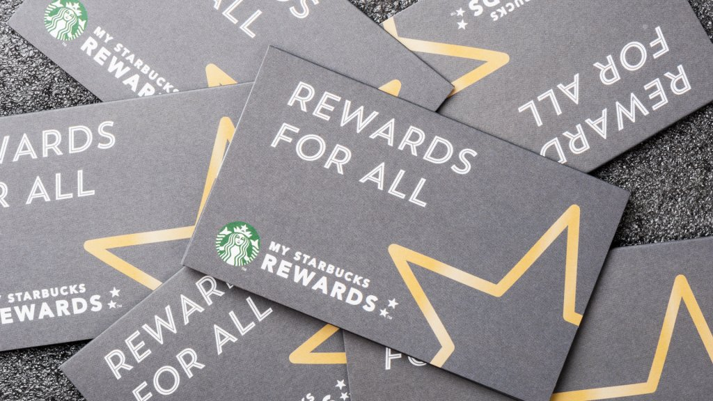 BANGKOK, THAILAND - JANUARY 27, 2016: The Starbucks card packages in Thailand.