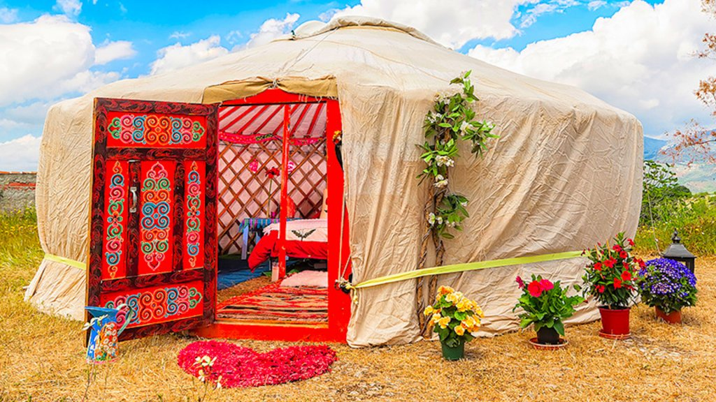 Traditional Yurt for a Getaway in the Idyllic Countryside of Andalusia, Spain