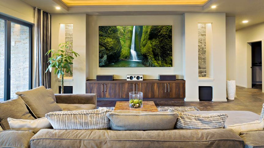 family living room with television and couch