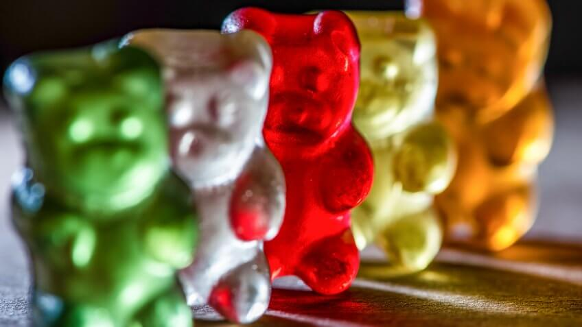 gummy bears close-up
