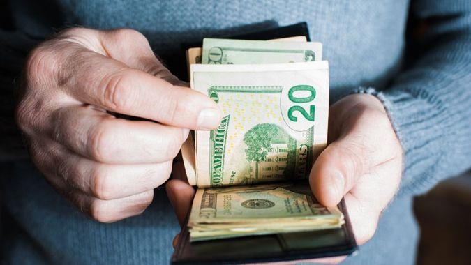 Money in the wallet.