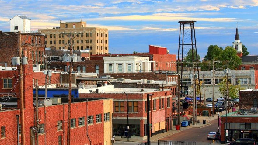 skyline of down town Springfield Missouri