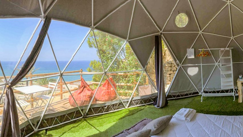 Luxury Camping Dome in Ischia Italy