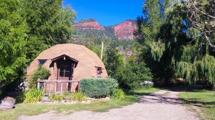 Mountainside Dome Near Ute Mountain Colorado