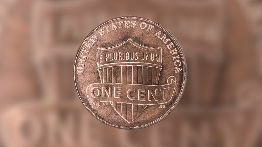 2010 US union shield penny reverse side