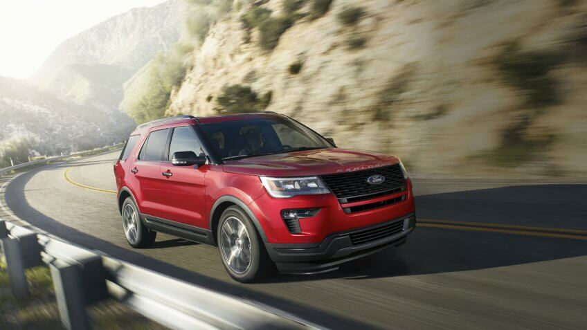 2019 Ford Explorer Sport - Ruby Red Metallic.