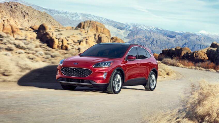 2020 Ford Escape new hybrid car