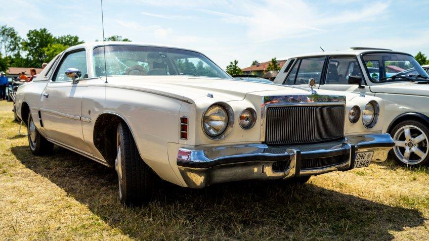 PAAREN IM GLIEN, GERMANY - MAY 19, 2018: Personal luxury car Chrysler Cordoba, 1976.