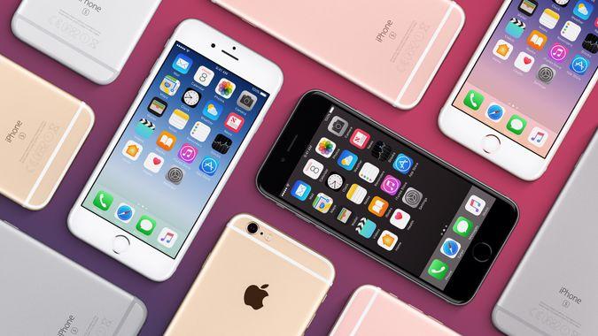 Apple iPhone flat lay