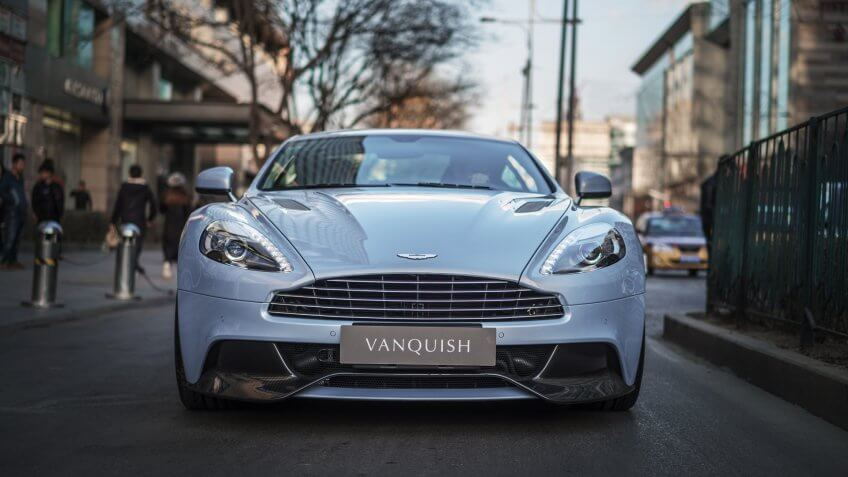Beijing - March 5, 2017: Aston Martin Vanquish (2nd generation, 2012-), a British grand tourer powered by 5.