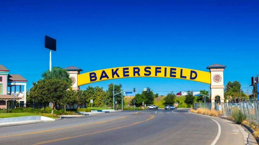 Bakersfield sign in Bakersfield, California.