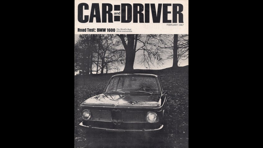 Car and Driver magazine cover