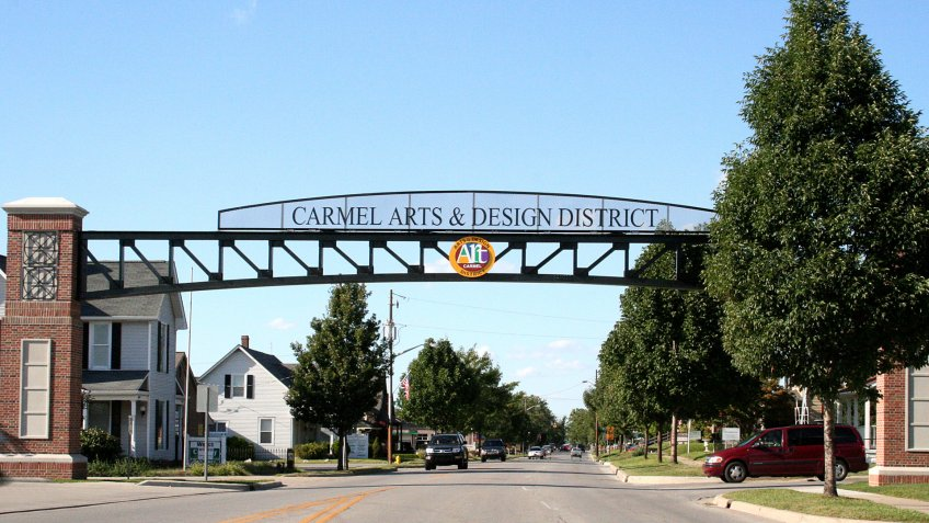 Carmel Indiana art and design district
