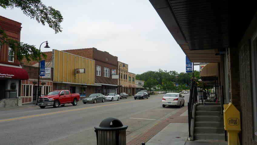 Downtown Papillion Nebraska