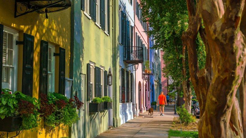 Georgian row houses in Charleston, South Carolina