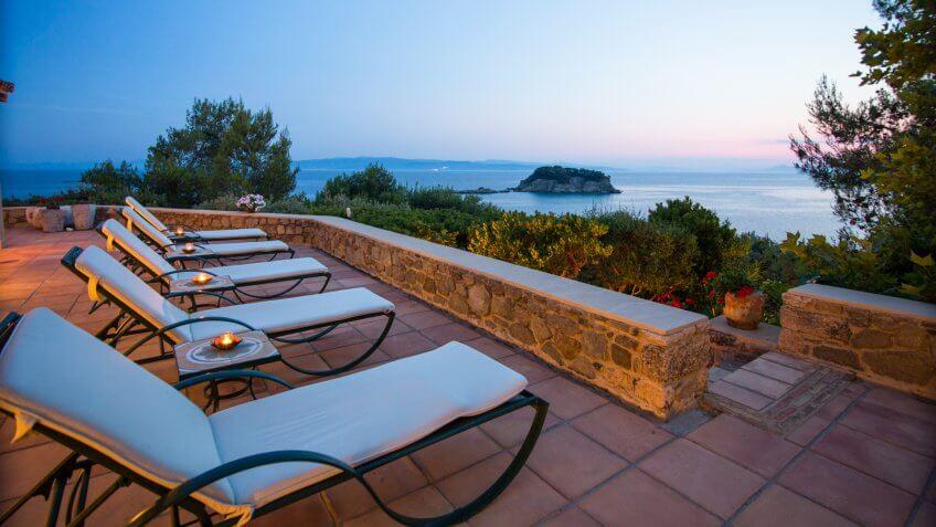 Mediterranean mansion in Greece
