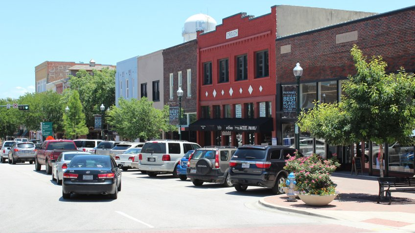 Historic Downtown McKinney Square in Texas