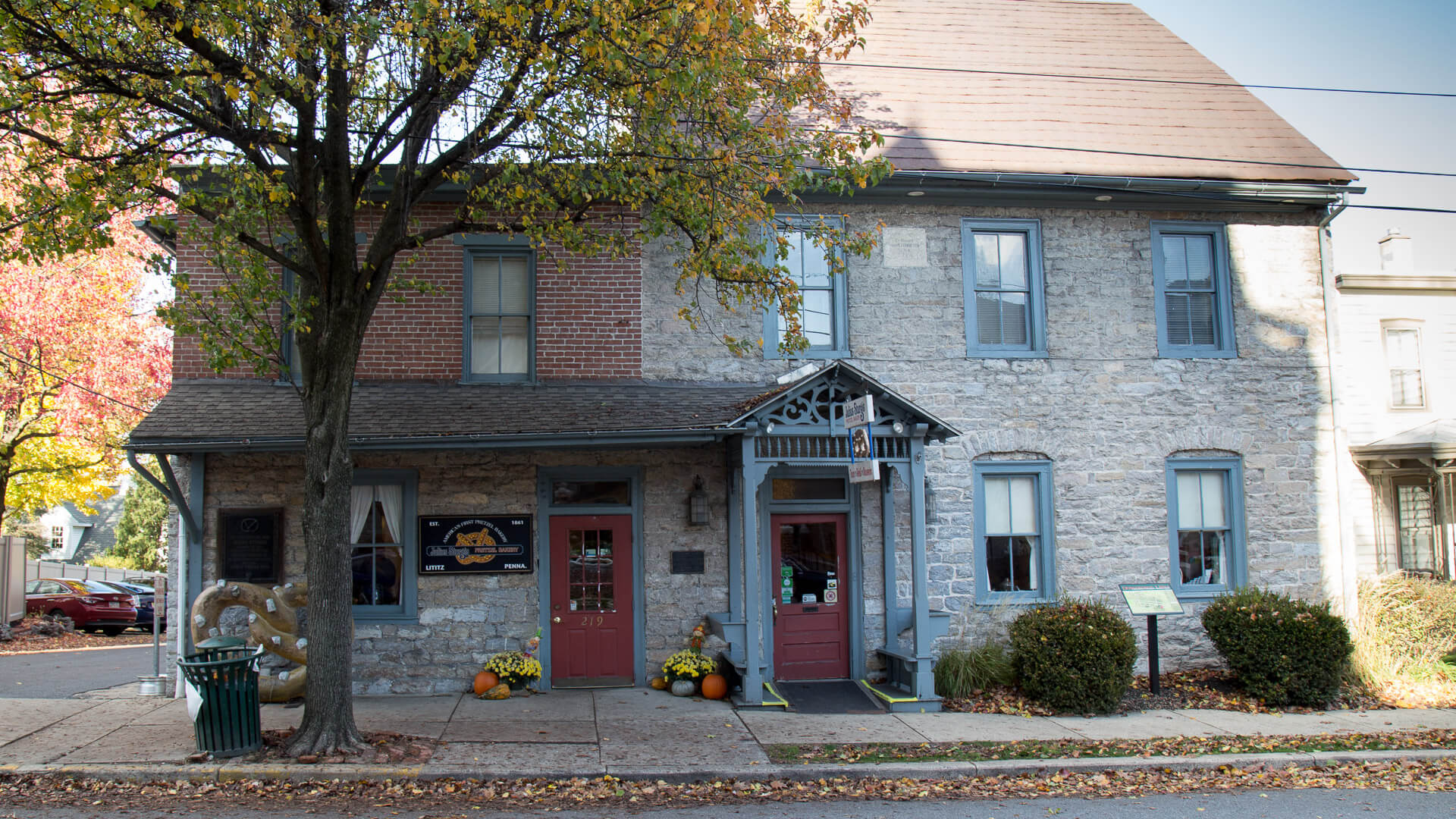 Julius Sturgis Pretzel House in Lititz Pennsylvania