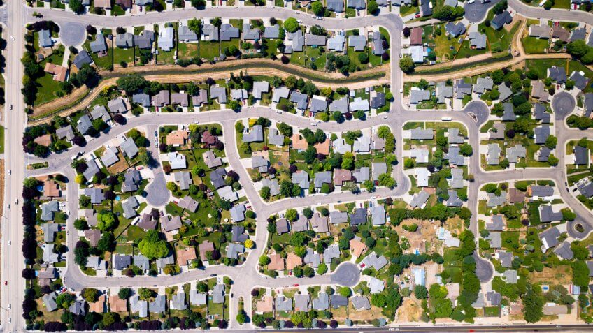 Meridian Idaho aerial neighborhood photo