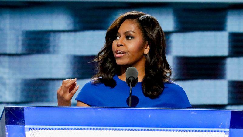 Michelle Obama on the campaign trail