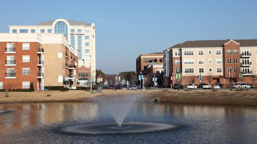 Newport News, Virginia at city center