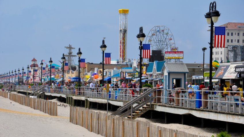 Ocean City, NJ, USA - September 1, 2013: Ocean City Boardwalk in New Jersey.