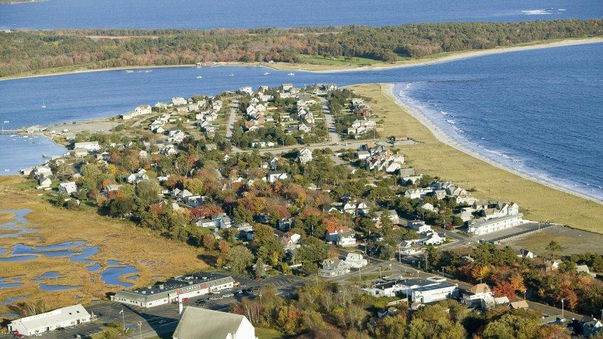 Pine Point Beach in Scarborough Maine