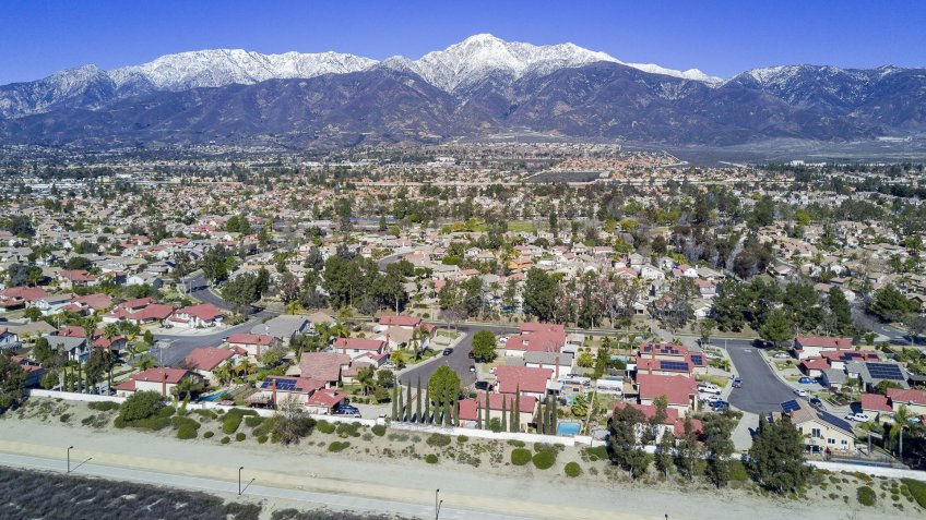 Rancho Cucamonga California aerial view