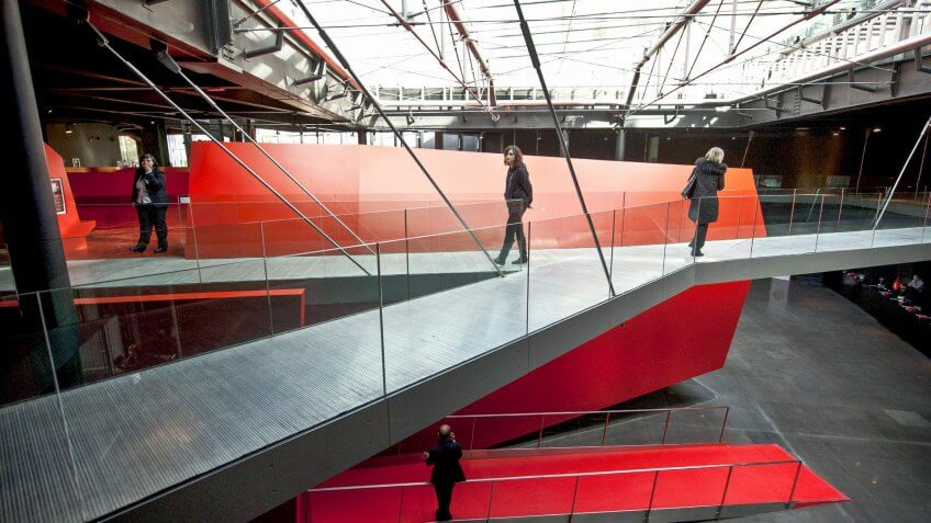 Rome Museum of Contemporary Art designed by Odile Decq female architect