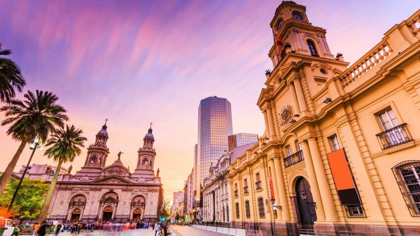 Plaza de Armas in Santiago de Chile, Chile.