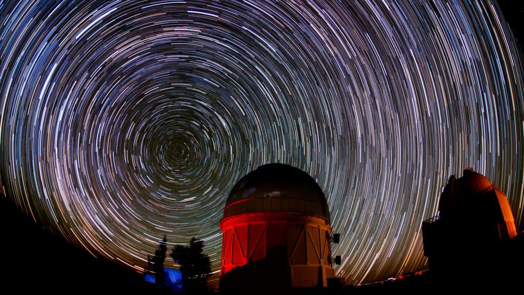 Stars over the Cerro Tololo Inter-American Observatory in Chile