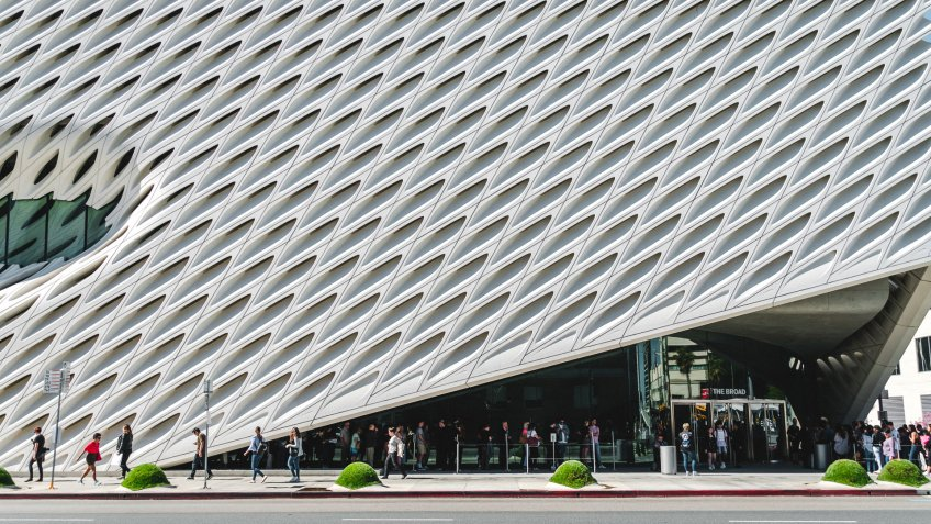 The Broad designed by Diller Scofidio and Renfro female architect
