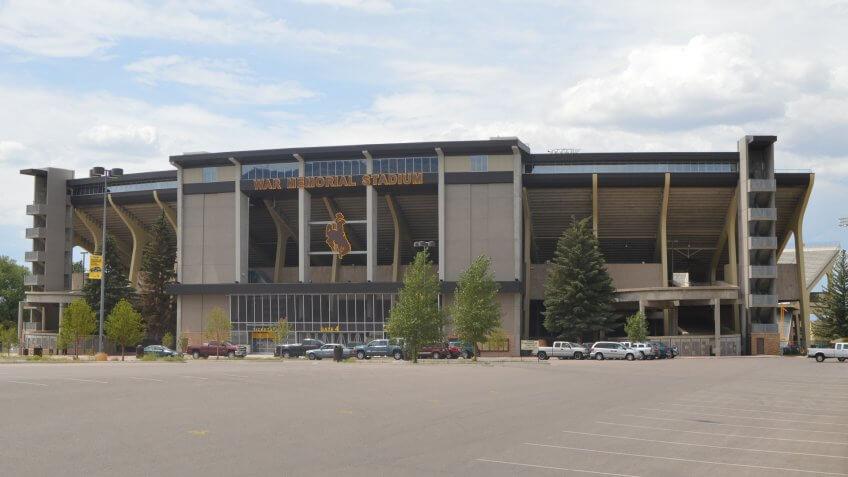 War Memorial Stadium football Wyoming