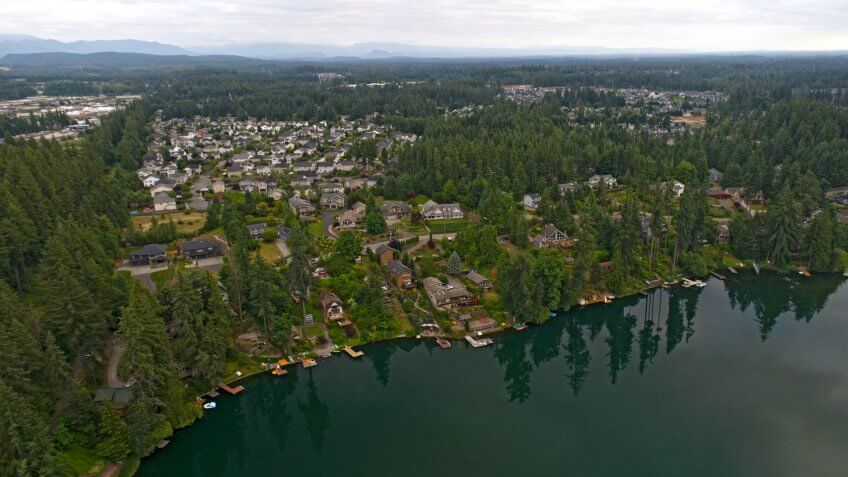 aerial Maple Valley Washington