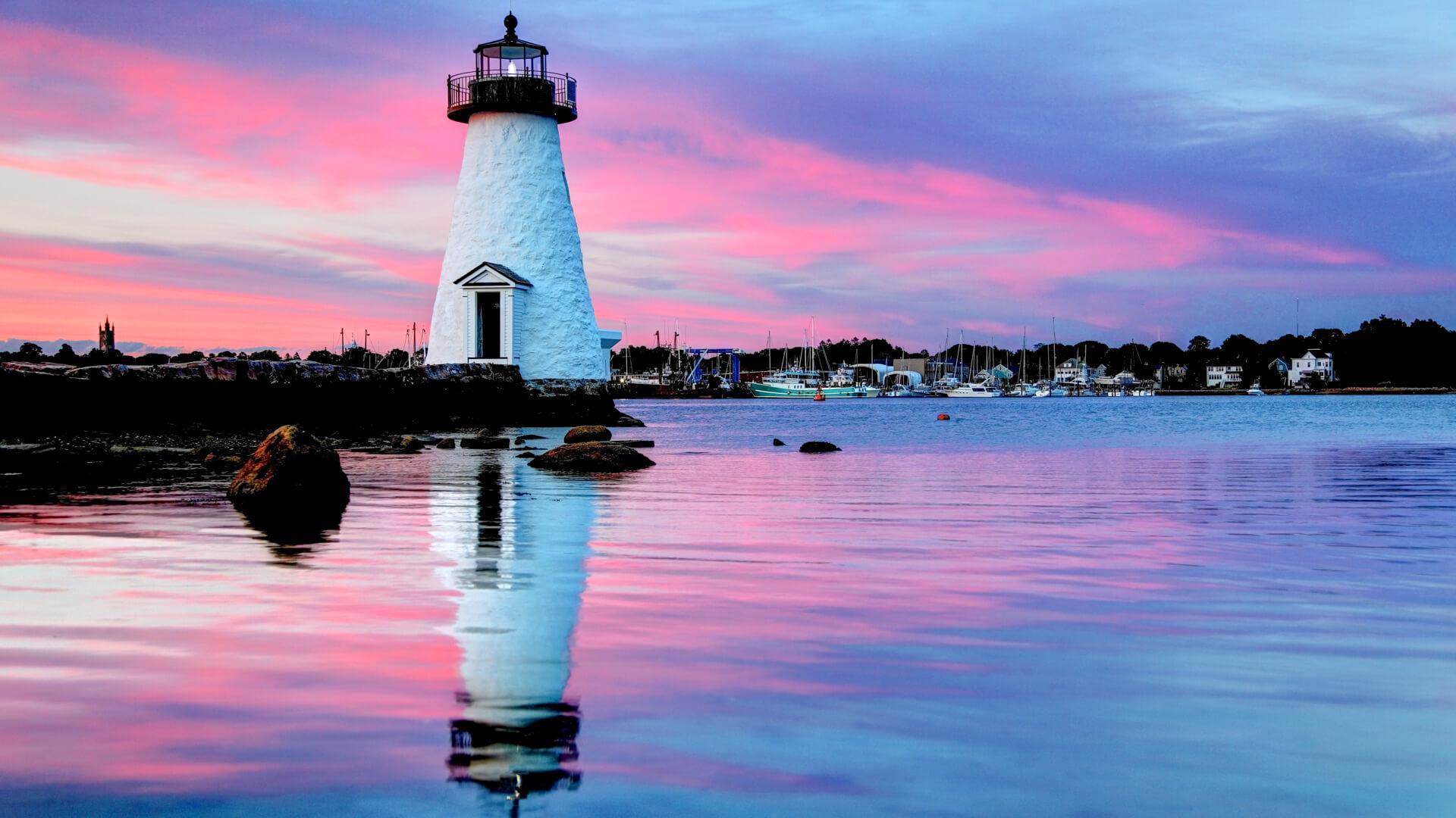 beach cities Palmer Island Lighthouse, New Bedford, Massachusetts