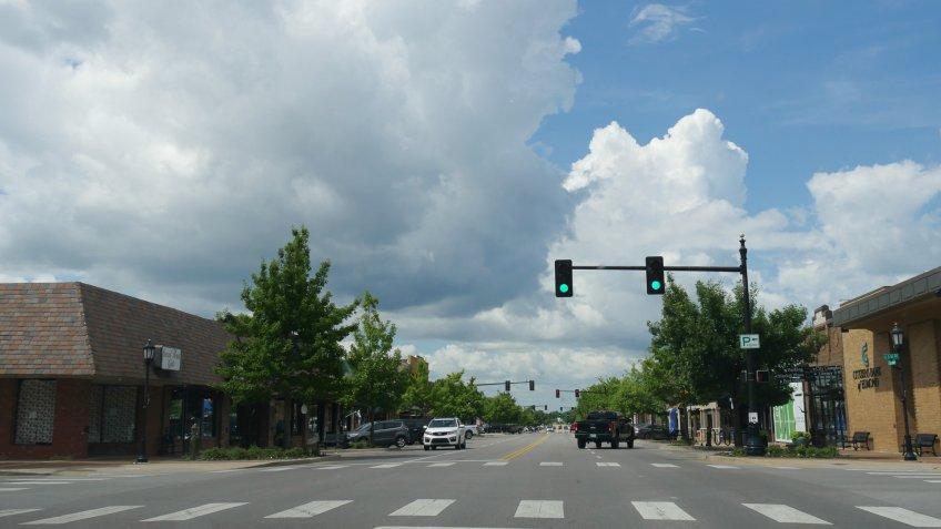 main street in Edmond Oklahoma