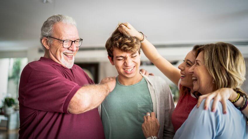 millennial grandchildren with baby boomer grandparents