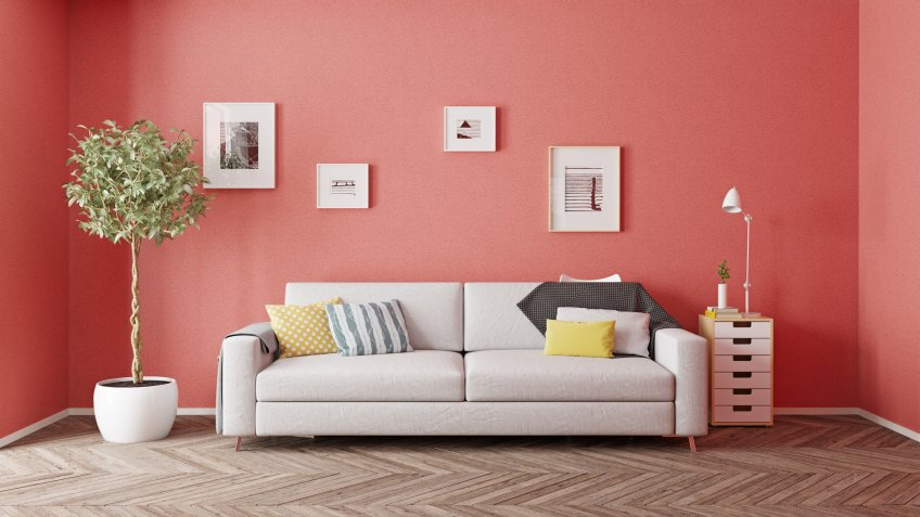 paint colors coral colored walls of modern interior