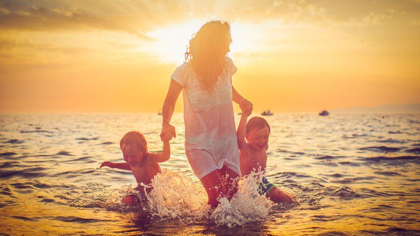 summer travel plans at sunset