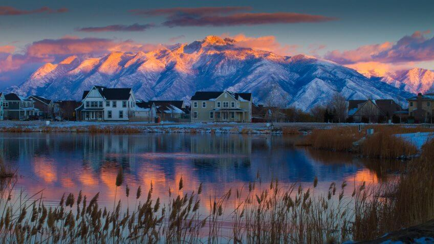 sunrise in South Jordan Utah