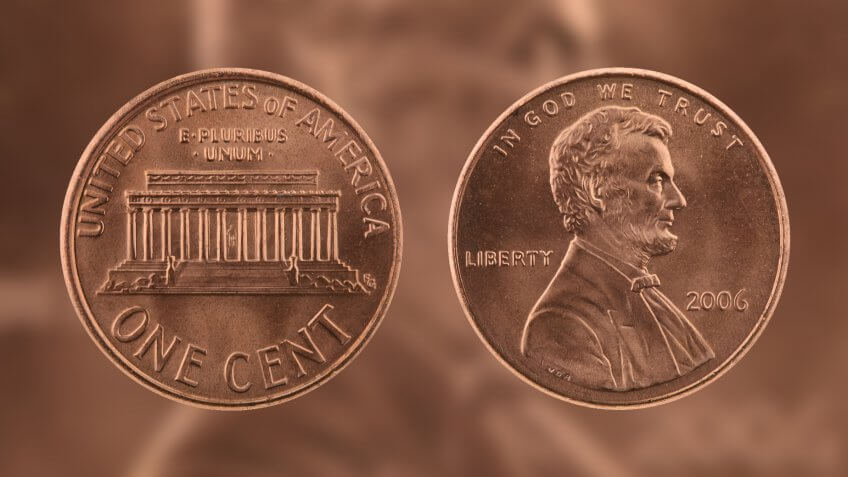 two Abrahma Lincolns on one penny
