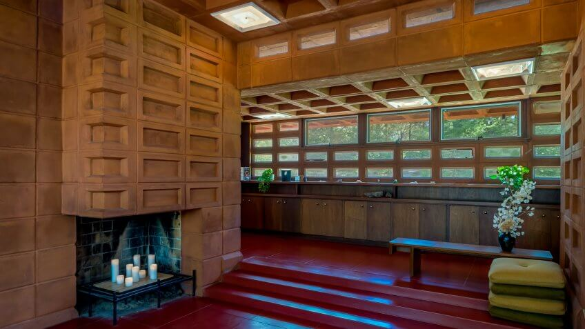 Pappas House designed by Frank Lloyd Wright