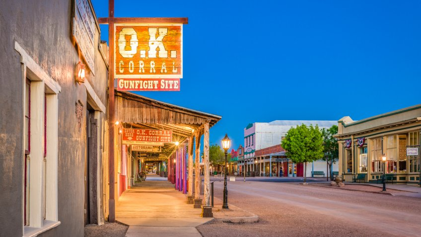 TOMBSTONE, ARIZONA - APRIL 17, 2018: The O.