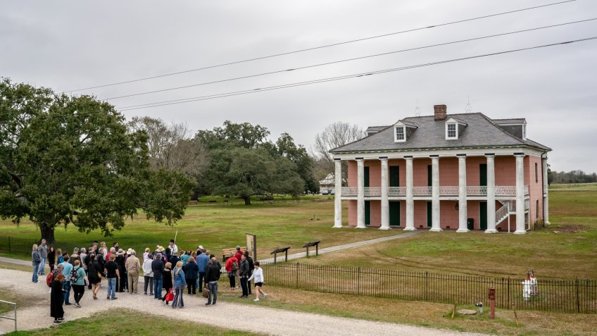 New Orleans, Louisiana / USA - February 15, 2019: People visiting the Chalmette Battlefield, site of the Battle of New Orleans in the War of 1812.